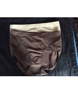 Womens lot 2 Pair Modern Movement Beige Brown Panties Microfiber Medium ... - $8.00