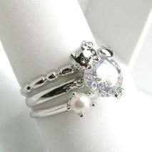 Hello Kitty Diamond + Pearl (Akoya)+ Silver Heart Ring Brand NEW Free Sh... - $287.00