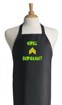 Grill Sergeant Black Barbecue Apron, Novelty Gr... - $14.80