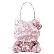 Hello Kitty x ANTEPRIMA Shoulder Bag Silver pink Wire bag from JAPAN NEW... - $3,739.23