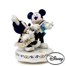 Disney Japan limited Pottery Lace Doll Music Box Micky & Minnie figurine... - $177.21