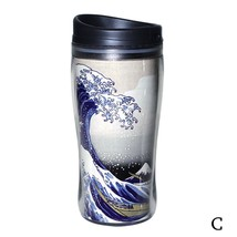 Japanese Ukiyo-e Tumbler HOKUSAI ,SAMURAI Mug Bottle for TeeThermos Japa... - $39.00