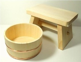 Real Hinoki Bath Sets from Japan Tub Chair OKE ISU Japanese cypress NEW - $172.26