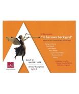 Art Trust Gallery Exhibition Women Artists Reception Advert Postcard Che... - $4.99