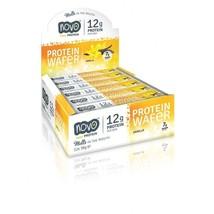 Novo Nutrition Protein Wafer bar 12g of Protein, Vanilla 12 bars - $23.03