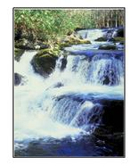 Waterfalls down Mossy Rocks-Digital Download-Cl... - $4.00