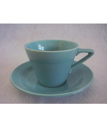 Vintage Homer Laughlin Harlequin Turquoise Teacup Saucer  - $25.99
