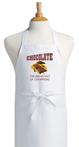 Chocolate - The Breakfast Of Champions Funny Apron, Funny Sayings Aprons - $9.85