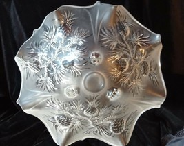 Antique Fenton Art Glass Crystal Pineapple Footed Bowl Pair Candlestick ... - $299.00