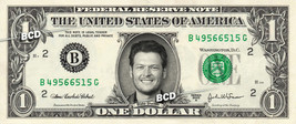 BLAKE SHELTON on REAL Dollar Bill Collectible Celebrity Cash Money Gift  - $4.44