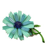 Vintage signed Hedy enameled metal flower power... - $20.00