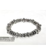 Stretch charm bracelet crystal and metal new wi... - $9.00