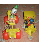 Fisher Price  Jalopy Clown Car &  Toot Toot Train 1960's - $14.95