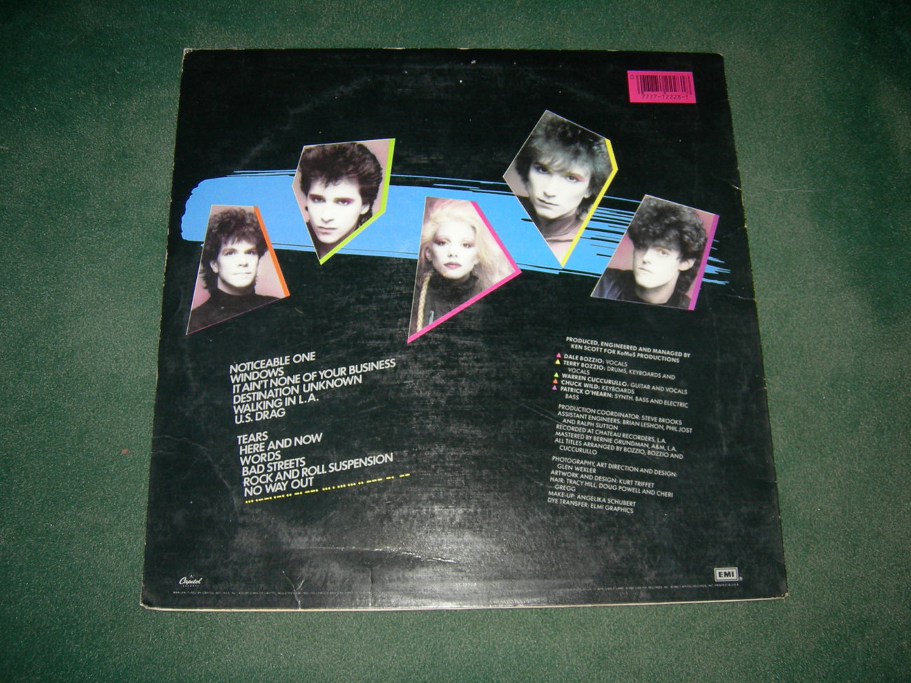 Missing Persons Spring Sessiom M - 1982 LP