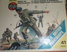 HO Scale W.W. II British Paratroops (41 pieces) - $9.95