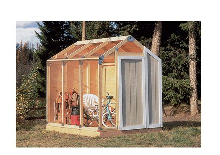 Amazon.com fast framer universal storage shed framing kit patio  lawn   garden   2015 04 13 00.52.56