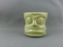 Modern Tiki Shot Glass - By Crazy Kahuna - Ceramic with Good Detail !! - $25.00