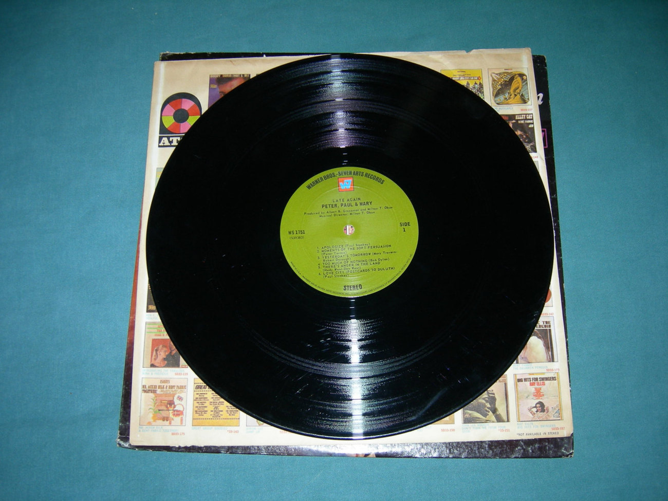 Peter, Paul & Mary - Late Again - LP 1968