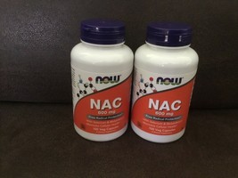 LOT OF 2 Now N-A-C N-Acetyl-L-Cysteine 600Mg 100 Capsules EXP 08/2026 - $98.99