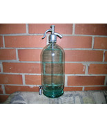 ANTIQUE SOVIET USSR RUSSIAN SODA CARBONATED WATER  SIPHON GLASS BOTTLE 1970 - $49.47