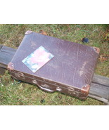 SOVIET RUSSIAN USSR ANTIQUE LUGGAGE TRAVEL BAG  ABOUT 1940 - $64.32