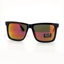 Black Square Frame Sunglasses Multicolor Mirror Lens Unisex UV400 - $9.95