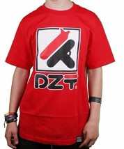 Dissizit Hombre Rojo Dila Dzt Guns Camiseta Slick La los Ángeles Grafiti Art Nwt