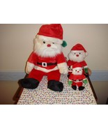 Ty Holiday Santa Beanie Buddy Baby And Jingle Santa - $18.99