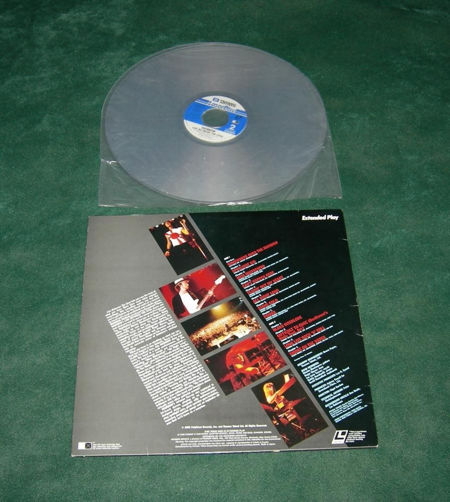 Rainbow Live Between the Eyes 1982 Japan Laserdisc