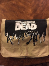 The Walking Dead Messenger Bag Laptop Logo TAN Tv Series / SDCC 2014 Com... - $99.95