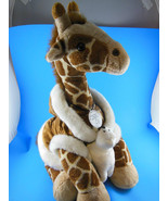 """Giraffe 19"""" Plush with Hooded Suede Cloth Jacket & Baby Seal Build A Bea... - $23.21"""