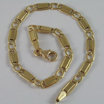SOLID 18K YELLOW GOLD BRACELET, LADYDIRD LADYBUG WITH GLAZE, MADE IN ITALY