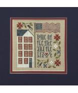 Free And Brave patriotic cross stitch chart Drawn Thread - $8.10