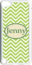 Monogrammed Green Chevron Design on iPod Touch 5th Gen 5G White TPU Case... - $11.26
