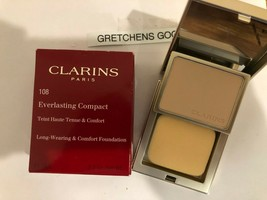 Clarins Everlasting Compact Long Wearing Foundation + #108 Sand NIB .3 oz - $17.51