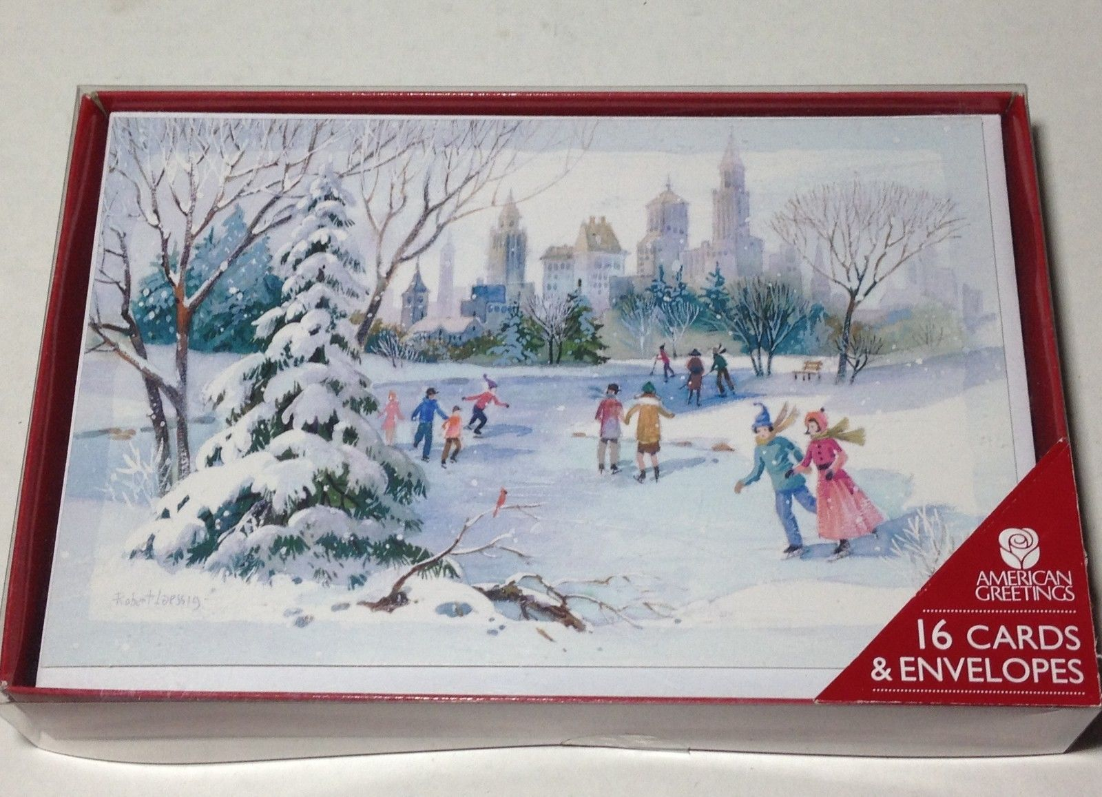 American greetings christmas card 8 listings american greetings christmas cards and envelopes 16 pcs winter snow with verse 500 m4hsunfo