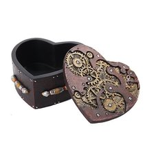 Steampunk Mechanical Heart Shaped Box with Lid Statue Figurine by PTC - $19.79