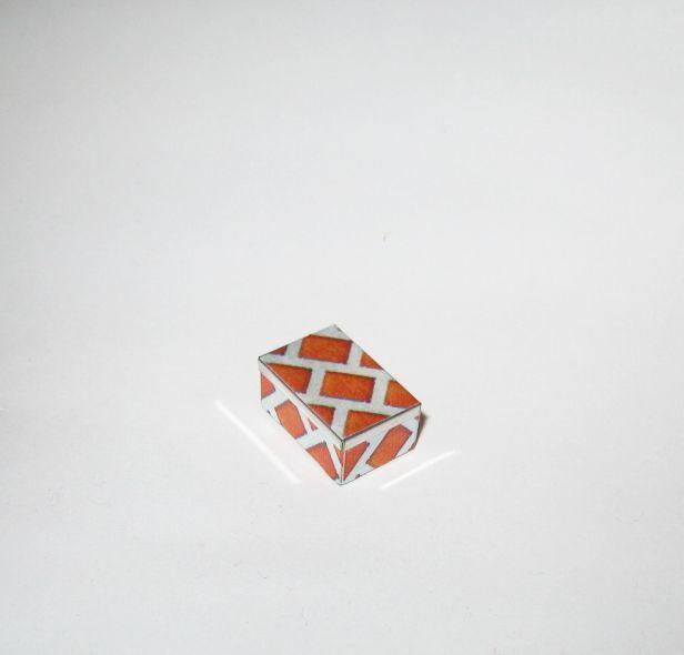 Dollhouse Working Biscuit Tin 2-pc Metal Rectangular Lattice Miniature 1:12