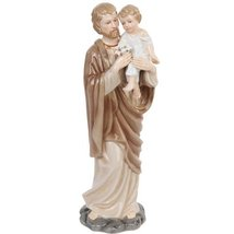 "PTC Saint Joseph with Baby Jesus Religious Statue Figurine, 11.5"" H - $44.98"