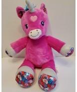 Build a bear Pink Unicorn Heart 2018 Girl Power Heart Pattern best friends  - $19.79