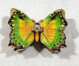 Butterfly bejeweled jewelry box 5 - $25.25