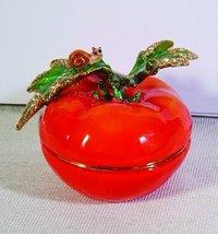 Tomato bejeweled jewelry box - $29.45