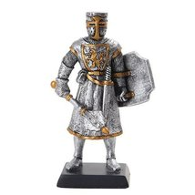 5 Inch Medieval Knight with Sword and Classic Shield Statue Figurine - $15.44