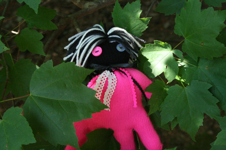 "Rag Glove Doll Easter Basket HANDmade Handhugged ""Pudding"" Stuffed Animal Child"