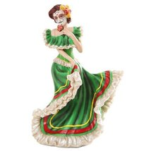 Day Of The Dead Dancer Figurine Green Dod Home Decor - $24.63