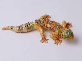 Lizard Jewel Studded Snap Closure Jewelry/Trinket Box Figurine - $23.99