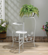 Butterfly 3 Tier Plant Stand White  - $38.62