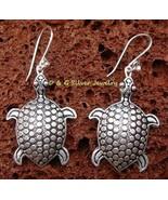 Sterling Silver Turtle / Tortoise Earrings SE-177-DG - $17.99