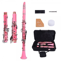 Brand New 17 Key B♭ Clarinet Pink with Bag Cloth Screwdriver - $159.99