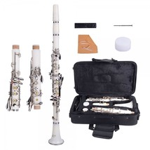 Brand New 17 Key B♭ Clarinet White with Bag Cloth Screwdriver - $159.99